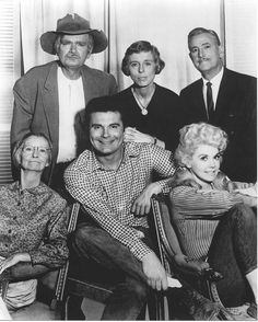 The Beverly Hillbillies - Granny Daisy Mae Moses (Irene Ryan); Jethro Bodine (Max Baer, Jr.); Elly May Clampett (Donna Douglas); Uncle Jed Clampett (Buddy Ebsen); Miss Jane Hathaway (Nancy Kulp); and Mr. Milburn Drysdale (Raymond Bailey)