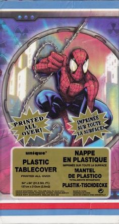 Marvel Comics SpiderMan Plastic Table Cover -- Find out more about the great product at the image link.Note:It is affiliate link to Amazon.