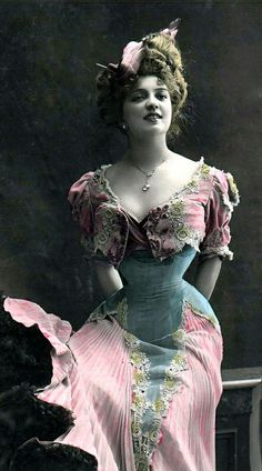 Turn-of-the-Century French actress Arlette Dorgère,