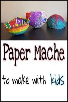 Super simple paper mache art. You only need a few materials to create with paper mache and it is always a kid favourite. Make one today!