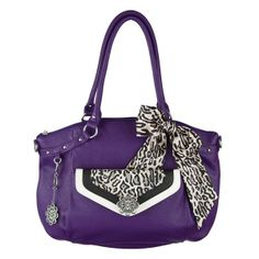 Shelby purse in grape, Shay clutch in Ocelot with an Ocelot bag scarf. See more beautiful purses and accessories on my website at www.eyecandy.graceadele.us