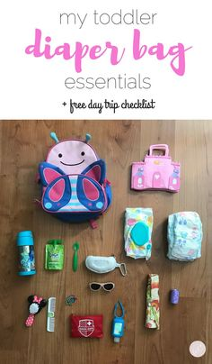 My Toddler Diaper Bag Essentials + Printable Checklist backpack diaper bags choosing and buying Toddler Diaper Bag, Best Diaper Bag, Toddler Backpack, Diaper Bag Backpack, Diaper Bags, Diaper Bag Checklist, Diaper Bag Essentials, Travel Bag Essentials, Products