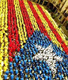 Estelada humana a Igualada  Catalonia