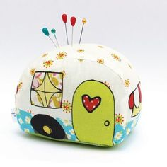 Another new kit in the shop is this Camper Pin Cushion - a personal favorite, of course! #jenniferjangles #vintagecamper #pincushion
