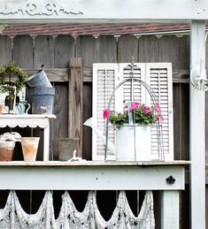 shabby story homegoods garden watercan cloche