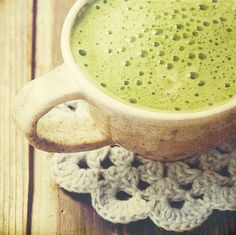 Matcha green tea.
