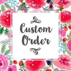 Custom Order for Christine von bellaloveletters auf Etsy