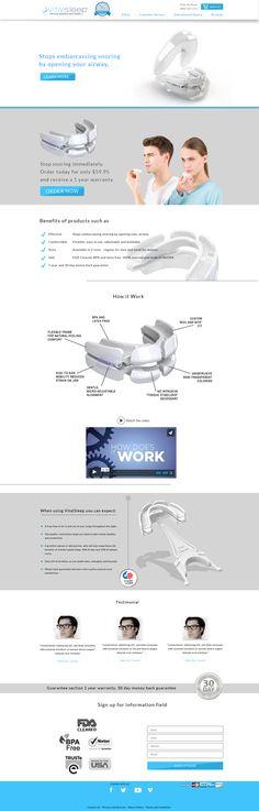 web design concept for VitalSleep