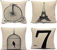 Wish | 2015 New Fashion New Year Cotton Linen Cushion Cover Vintage Pillowcase Home Decor Pillow Cover Square Throw Sofa Simple Almofada