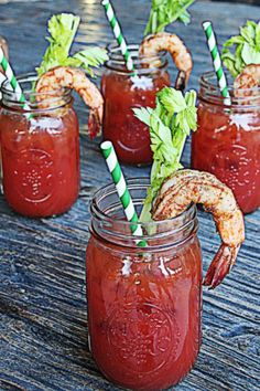 Creole Grilled Shrimp Bloody Marys | The Hopeless Housewife®