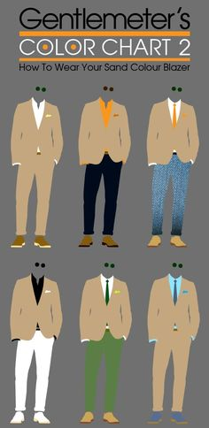 How to wear your sand coloured blazer.