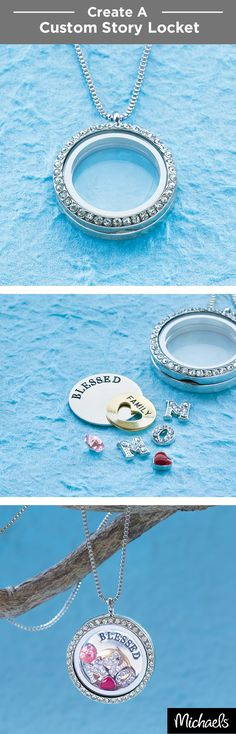 Tell your own story with a custom locket. Add special gems and charms to make it one of a kind and personal. Get everything you need to make your own story locket at your local Michaels store.