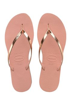 Havianas: Metallic - Pink