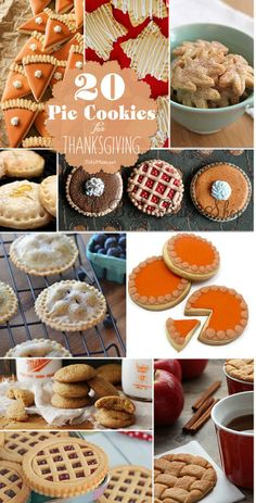 20 Pie Cookie recipes for Thanksgiving - Not just for the holidays! Cookie Pie, Cookie Desserts, Cookie Recipes, Dessert Recipes, Pie Recipes, Dinner Recipes, Thanksgiving Cookies, Holiday Cookies, Holiday Treats