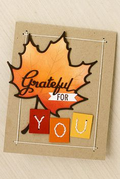 Grateful For You Card by Erin Lincoln for Papertrey Ink (November 2015)