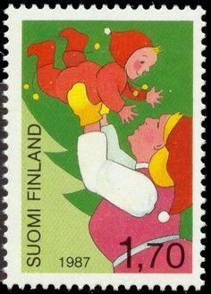 Joulupostimerkki 1987 2/2 - Jouluiloa