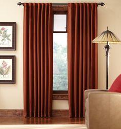 Tweed Room-Darkening Back Tab Curtain Panel