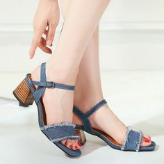 SHARE & Get it FREE | Mid Heel Denim SandalsFor Fashion Lovers only:80,000+ Items • New Arrivals Daily • Affordable Casual to Chic for Every Occasion Join Sammydress: Get YOUR $50 NOW!