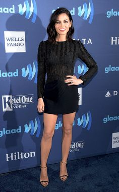Jenna Dewan-Tatum from The Best of the Red Carpet  Behold: LBD magic! Mrs. Channing Tatum is flawless in an Azzaro Couture number at the GLAAD Media Awards.