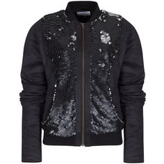 Rachel McMillan - Suede Sequin Bomber (315 AUD) ❤ liked on Polyvore featuring outerwear, jackets, oversized bomber jacket, blouson jacket, zip jacket, suede leather jacket and zipper jacket