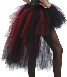 Vampire tutu costume. I made one exactly like this [but with more red & white] for my Queen of Hearts costume. So easy!