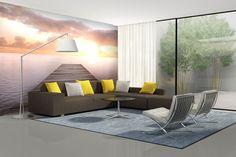 Fototapeta, ktorá vám opticky zväčší interiér |  DIMEX Wall Murals, Divider, Room, Inspiration, Furniture, Home Decor, Wallpaper Murals, Bedroom, Biblical Inspiration