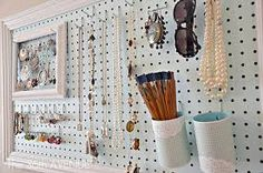 peg board ideas for bedroom - Google Search