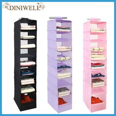 DINIWELL 9 Cell Hanging Box Underwear Sorting Clothing Shoe Jean Storage Mails Door Wall Closet Organizer Closet Organizador Bag