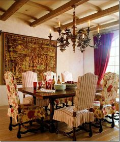 ina garten. dining rm , house in the hamptons frm msl | dining