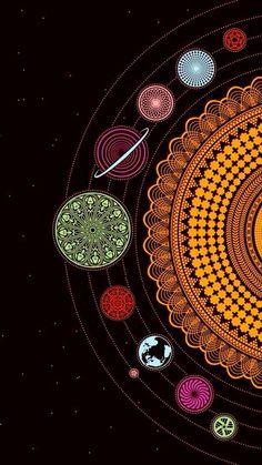 Pretty solar system print