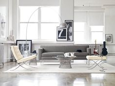 There is nothing better than a Barcelona chair AND an arc lamp in the same room!!!!!!
