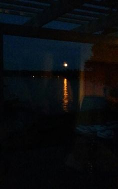 Full moon on the water