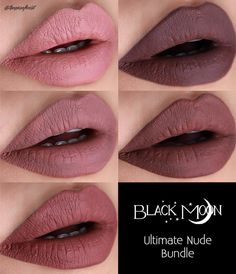 """460 Likes, 12 Comments - Mina the Magnificent (@theminaficent) on Instagram: """"These are the swatches for @blackmooncosmetics nude matte lipstick bundle. Shades are Gloom,…"""""""