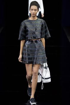 Emporio Armani, sporty chic, primavera verano 2015, milano fashion week, semana de la moda de MIlán, blanck.