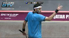You'll see why squash is such a calorie burner! Squash : MegaRallies - El Shorbagy v Ashour Qatar Worlds
