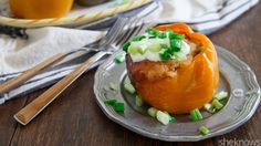 Stuffed peppers get a Mexican twist in this easy slow cooker recipe that makes dinner effortless