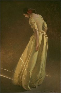 """John White Alexander ~ Sunlight  """"Why do women want to dress like men when they're fortunate enough to be women? Why lose femininity, which is one of our greatest charms?... I'm very fond of men. I think they are wonderful creatures. I love them dearly. But I don't want to look like one."""" -Tasha Tudor"""