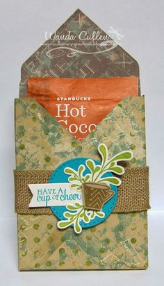 Treat packaging by Wanda Cullen using Holiday Treats and Sunny Days from Verve.  #vervesstamps