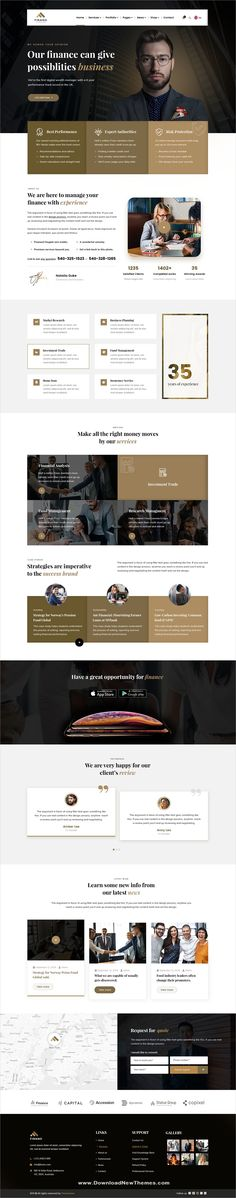 Finance is a clean and modern design PSD #template for #corporate business and finance consulting services companies #websites with 5 homepage layouts and 21+ layered PSD files to download now & live preview click on image or Visit 🡽 #webdesigns #uidesign #uxdesign Web Layout, Layout Design, Logo Design, Corporate Website Design, Template Web, One Page Website, Portfolio Web Design, Web Themes, Landing Page Design