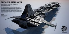 Image updated with completed model and better light settings This is hard work! The Aftermath Advanced Capital Assault Supercarrier (ACAS) is the largest fighting ship in Hexiron. Measuring a mindb...