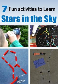 Fun activities for kids to learn about stars and planets in the sky, recognize constellations, from preschool to school age. STEM activity ideas for school and homeschool science projects, or summer night stargazing party. #Stargazing #summer #STEMforKids #STEMactivities #ScienceActivities #iGameMomSTEM #activities #StargazingParty