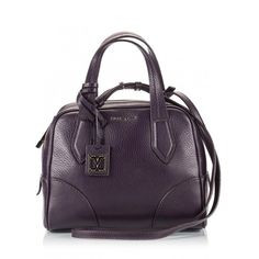 Coccinelle - Plum texture leather cross-body mini bag ($355) ❤ liked on Polyvore featuring bags, handbags, shoulder bags, purple, mini tote, purple tote, mini crossbody purse, tote handbags and cross-body handbag