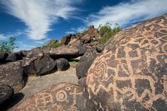 Petroglyph A, Painted Rocks, Gila Bend, Maricopa County, Arizona by Brad Wilson, DVM, via Flickr