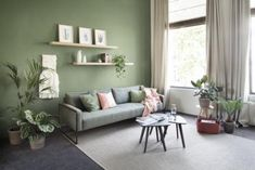 Outstanding modern living room ideas are offered on our internet site. Sage Living Room, Feature Wall Living Room, Living Room Shelves, Room Wall Colors, Living Room Colors, Small Living Rooms, Living Room Paint, Modern Living, Interior Design Living Room Warm