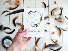Go your own way  Painting Postcard  Watercolor Art