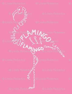 lawn flamingo outline - photo #26