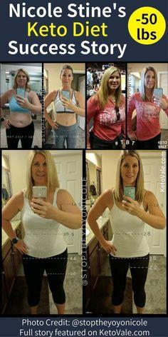 Nicole Stine's Keto Diet Success Story Weight Loss Before and After Photo via Ke. Nicole Stine's Keto Diet Success Story Weight Loss Before and After Photo via Ke. Fast Weight Loss Diet, Weight Loss Results, Weight Loss Before, Best Weight Loss, Lose Weight, Lose Fat, Atkins Diet, Keto Diet Plan, Ketogenic Diet
