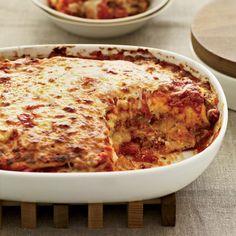 Flatbread Lasagna Recipe on Food & Wine- I used 9 regular lasanga noodles instead of flatbread Wine Recipes, Pasta Recipes, Great Recipes, Cooking Recipes, Favorite Recipes, Lasagna Recipes, Lasagna Food, Meatless Lasagna, Sausage Lasagna