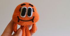 And here is the pattern for Darwin. He's a talking, walking goldfish from the cartoon The Amazing World of Gumball . I posted the pattern fo...