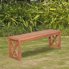 X Leg Patio Wood Picnic Bench